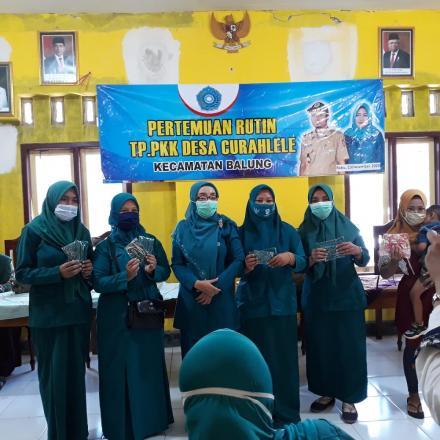 TP PKK Desa Curahlele Sosialisasikan Tanggap Kesehatan